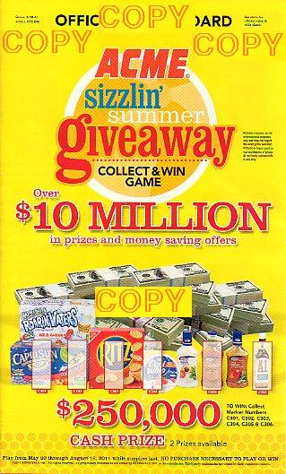 Acme Sizzlin Summer Game Board